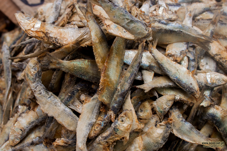 Dried fish sold at the Estancia Public Market