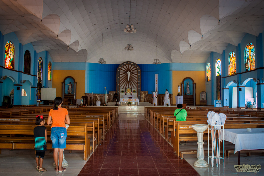 Inside the Estancia Parish Church